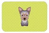 Caroline 's Treasures Schachbrett Lime Grün Yorkie Puppy Maus Pad/Hot Pad/Untersetzer (bb1294mp)