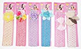 Fameza Baby's Crochet Style Elastic Rubber Hair Ties (Multicolour, HairBand_09) - Set of 6