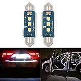 36mm Soffitte C5W LED Auto Glühbirne, HSUN 3Stück LEDs SMD3030, mit Canbus für KFZ-Innenraum Kuppel Glühbirnen Cargo Licht Kennzeichenbeleuchtung, 6000K, weiß, 2Stück
