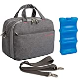 Lekebaby Insulated Bottle Cooler Bag for 6 Baby Bottles, Delux Insulating Tote Bag