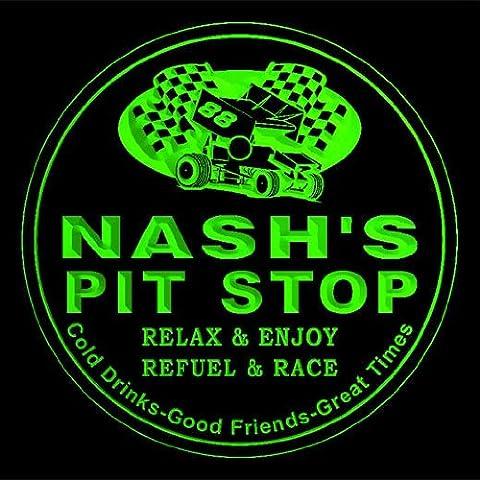 4x ccpu1498-g NASH'S Pit Stop Car Racing Bar Beer 3D Drink Coasters