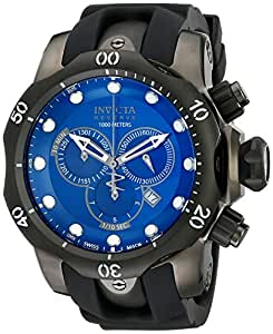 Invicta Reserve/Venom F0003 54mm Ion Plated Stainless Steel Case Black Polyurethane flame fusion Men's Watch