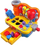 Werkbank mit Musik für Kleinkinder TG653 - Interaktive Werkbank mit Musik für Jungen und Mädchen - Inklusive Werkzeuge, Geräusche und Lichter - Von ThinkGizmos (Merken geschützt)