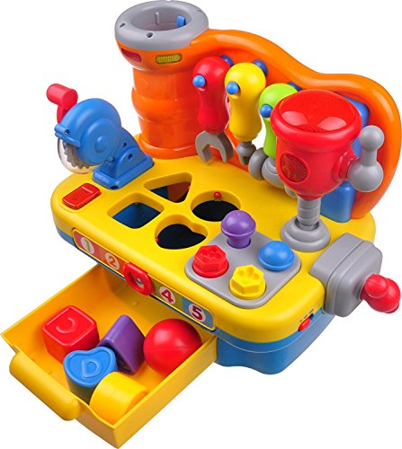 Musical Workbench Toy For Toddlers TG653 - Interactive Musical Builders Workbench Toy For Boys & Girls � Includes Tools, Sounds and Lights � By ThinkGizmos (Trademark Protected)
