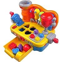 Think Gizmos Juguetes de Actividad para niños pequeños - Juguetes educativos interactivos para niños pequeños (Banco de Trabajo de Juguete)