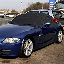 UK Custom Covers RP094 Tailored Soft Top Roof Half Cover - Black