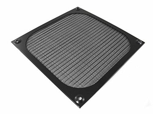 AAB Cooling Aluminium Lüfter Filter/Grill Lüfterabdeckung (140mm, Schwarz)