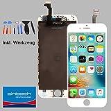 Sintech© iPhone 6 Ersatz-Display 4,7' im Komplettset inkl. Werkzeug in der Farbe Weiß. Dieses Qualitäts Reparatur-Set besitzt Einen Sehr Hoch auflösenden LCD-Bildschirm Sowie kratzfestes Glas