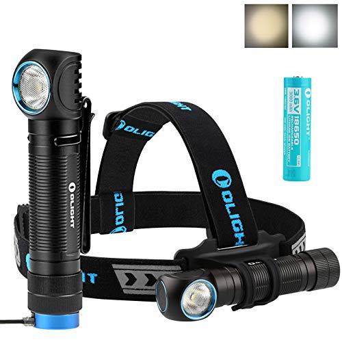 Olight H2R NOVA Scheinwerfer CREE XHP50 LED CW/NW 2000 Lumen Magnetic USB aufladbar Scheinwerfer EDC Flashlight, mit 18650 Batterie + Batteriefach (Neutralweiß)