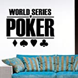Ambiance-Live Sticker Mural World Series of Poker - 55 X 70 cm. Noir