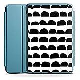 Apple iPad Mini 4 Smart Case hellblau Hülle Tasche mit Ständer Smart Cover Steine Stones Muster