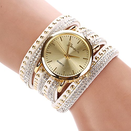 Womens-Fashion-Rivets-Rhinestone-Weave-Wrap-Faux-Suede-Bracelet-Wrist-Watch