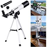 Jukkre 90X Zoom Land and Sky View Telescope for Seeing Planets and Stars Moon
