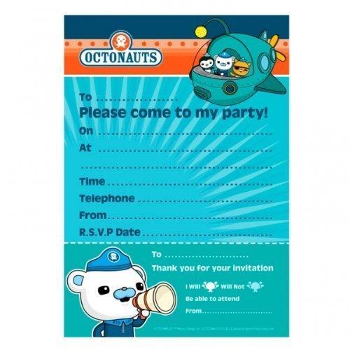 Octonauts Party - Geburtstags-Party Einladungen x 20 [Spielzeug]