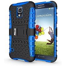Funda Galaxy S5 , Funda S5 NEO , Fetrim Proteccion Cáscara Cases delgada de golpes Doble Capa de Tough Armor Anti-Shock de soporte de Protectora para Samsung Galaxy S5/S5 Neo (Azul)