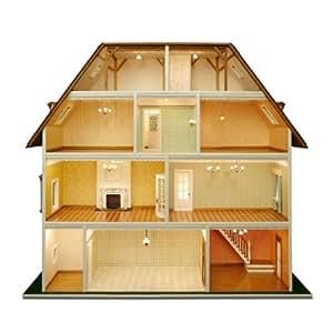 Bauelemente für 'Villa Tara' z.T. weiß lackiert (Türen, Fenster usw.) für das Puppenhaus