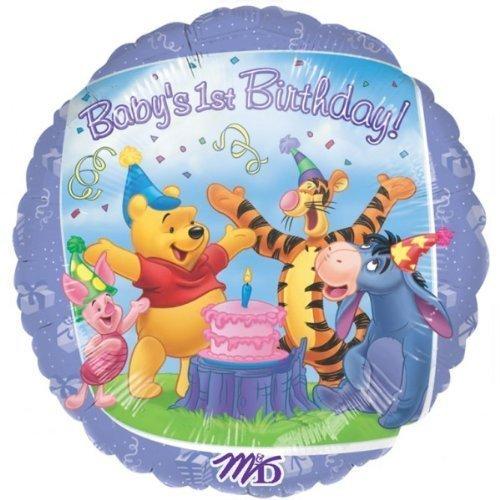 freunde 1. geburtstag folie luftballon (unaufgeblasen) (Winnie Pooh Und Freunde)