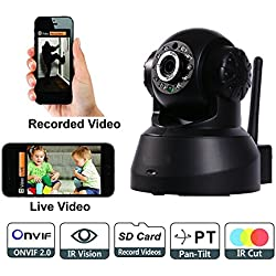 Wireless HD IP Wifi Camera CCTV indoor Security CCTV Camera Security System Video Monitor (Inbuilt Mic & Supports Micro SD Card with 2 Way Audio Chat)