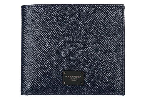 Dolce&Gabbana Herren Echtleder Geldbörse Geldtasche Geldbeutel Bifold blu (& Dolce Herren-geldbörsen Gabbana)