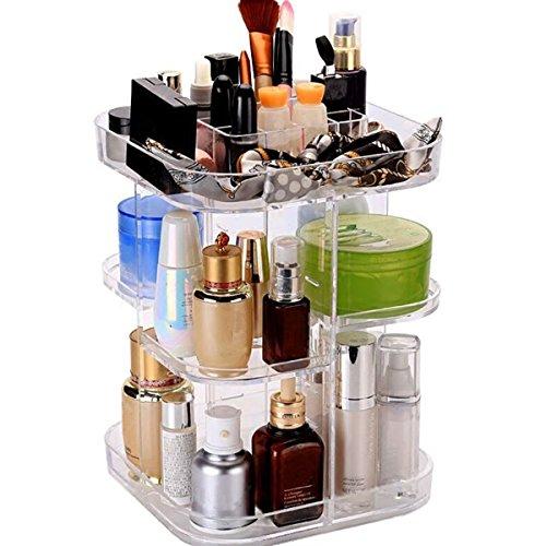 MYAMIA 7 Couches Acryliques De Stockage De Maquillage Bijoux Display 360 Étui Rotatif Acrylique Cosmétique Organisateur