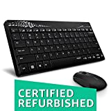 (CERTIFIED REFURBISHED) Rapoo 8000 Wireless Keyboard and Mouse Combo (Black)