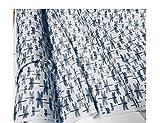 LushFabric Libelle Stoff für Vorhänge, Polstermöbel Schneidern–Schwarz & Weiß Insekten Print Baumwolle Material–280cm Extra breit (Meterware), per METRE
