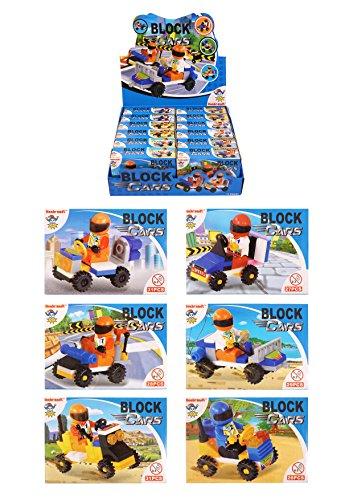 Stelle deinen Kinder Spielzeug Bricks kompartibel mit Lego Adventskalender selber zusammen Spielsachen Mädchen Junge Einzelne Kleine Spielware Paket (Bricks Set Autos)