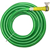 "TechnoCrafts PVC Braided Hose For Floor Care 15 Meter (50 Feet) 1/2"" (0.5 Inch Or 12.5mm) Bore Size - 3 Layered Hose Pipe With 1/2"" Tap Connector & Butterfly Clamps"