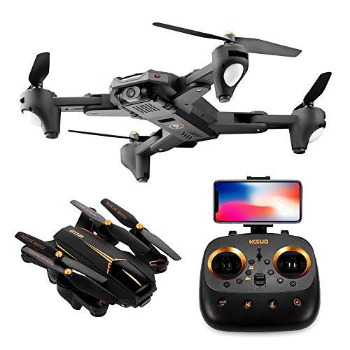 Goolsky VISUO XS812 GPS Drone con Fotocamera 1080P 5G WiFi FPV Altitude Hold RC Drone w / 3 Batteria Faro Quadcopter