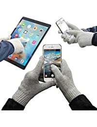 URCOVER® Guantes Táctiles para Pantalla   Touch Screen Display para Smartphone   Hombre y Mujer Talla Unica en Gris   Unisex Especiales Invierno Aire Libre