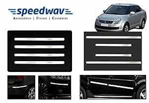 Speedwav Full Chrome Bumper Protector + Side beading -Maruti Swift Dzire Old