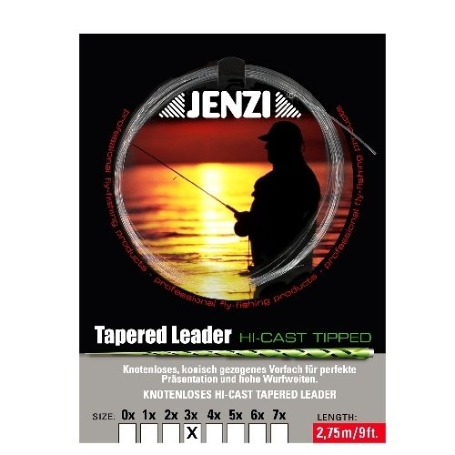 Jenzi Tapered Leader (conica gezogenes Fliege surfcasting/240cm)