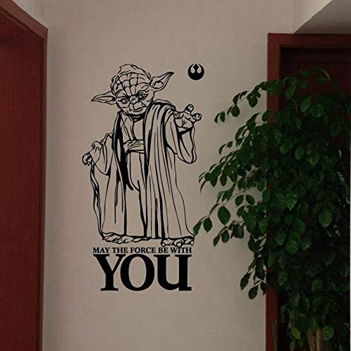 nyl Poster KANN DIE Kraft MIT IHNEN Sein Yoda Zitat Aufkleber Wandaufkleber Abnehmbare YO047 40 * 75 cm ()