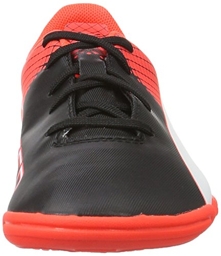 Puma Evospeed 5.5 It Jr, Chaussures de Football Compétition Mixte Enfant Noir - Schwarz (puma black-puma White-Red blast 01)