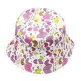 samLIKE Kleinkind Baby Kinderjungen Mädchen Blumenmuster Eimer Hüte Sun Helmet Cap (Lila5)