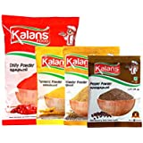 [Sponsored]Kalans Red Hot Chili, Coriander, Organic Turmeric , Black Pepper Powder Masala Combo Pack Of 4 Spices Combo