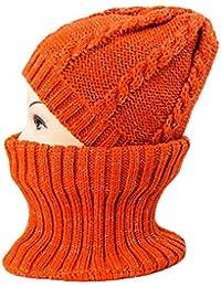 bb5d69c1ba1 Chapeau tricoté de Mode Collier Hommes et Femmes modèles Automne et Hiver