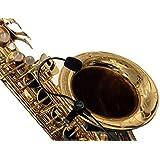 """""""La Pluma"""" saxofón micrófono con Flexible MICRO-GOOSE cuello por Myers pastillas ~ ver it en acción. Copia y pega: myerspickups. com"""