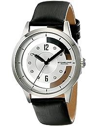 Stuhrling Original 946L.01 - Reloj para mujeres, correa de cuero color negro