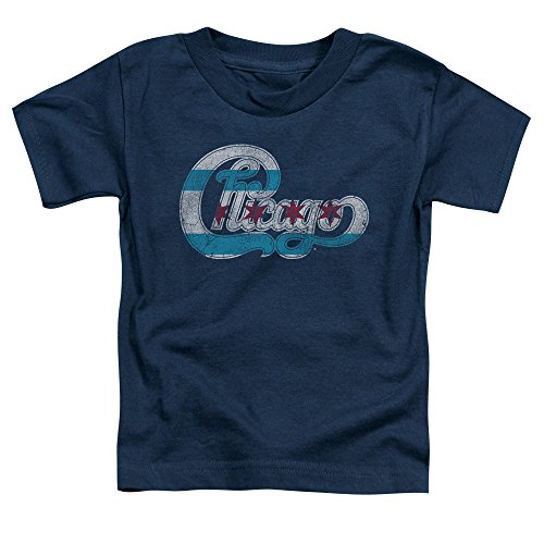 Chicago - Kleinkinder-Flaggen-Logo-T-Shirt, 4T, Navy (Kleinkind-shirt Chicago)