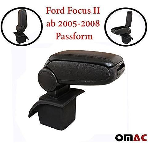 Medio reposabrazos reposabrazos Negro Piel Para Ford Focus II a partir de 2005–2008ajuste