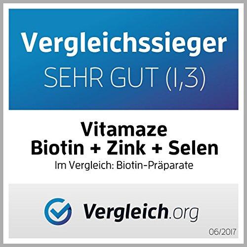 Biotin Vergleichssieger Note sehr gut 1,3 auf vergleich.org