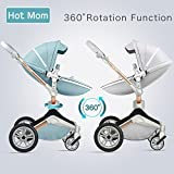 Hot Mom pushchair 2018,3 in 1 travel system with 360 Rotation function,grey