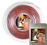 Double Ar - Corda Da Tennis Twice Dragon, Monofilamento Co-Poliestere 1.30mm, Bicolor Grigio/Rosso. Set Singolo 12Mt