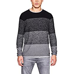 edc by Esprit 107cc2i001, suéter para Hombre, Gris (Dark Grey 020), Medium