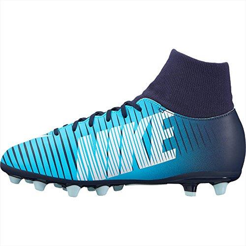 Botas Fútbol Nike MercurialX Victory VI Azul Con Calcetin Suela AG Niño ab44c8790a86c