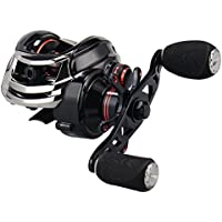 KastKing Royale Legend / Whitemax Low Profile baitcasting Fishing Reel - 11 +1 rodamientos blindados, 17.5 lb de fibra de carbono (Left-Handed(Black))