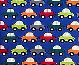 Jersey Retro Autos Vicente in blau von Swafing / Kinderstoff / 18,00€/m
