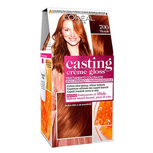 L'oréal paris colorazione capelli casting crème gloss, tinta colore trattamento senza ammoniaca per una fragranza piacevole, 700 biondo