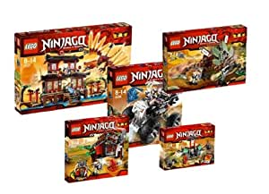 LEGO Ninjago 2254 2506 2507 2508 2509 Fire Temple Super Set